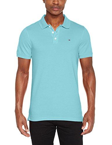 Tommy Jeans Herren Poloshirt TJM Basic Polo S/S 1, Blau (Maui Blue 414), XX-Large (Basic Herren-polo-shirt)