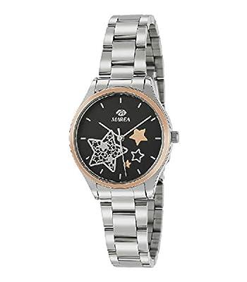 Marea B41240/6 Reloj para Mujer con Correa Plateada y Pantalla en Negro