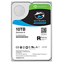Seagate 10 TB SkyHawk AI Surveillance 3.5 Inch Hard Drive ST10000VE0008 (SATA 6Gb/s/250MB/7200 RPM)
