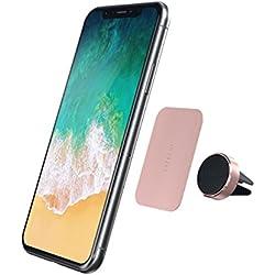 SATECHI Lüftungsschlitz Magnethalterung aus Aluminium, Halterung kompatibel mit iPhone X/XS/XS Max/XR/8 Plus/8/7 Plus/7, Samsung Galaxy S8/S7 und andere (Rose Gold)