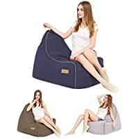 Puregadgets© Olive Comfy Adult Kids XXL Large Canvas Gamer Beanbag Chair Seat Garden Outdoor Gaming Living Room