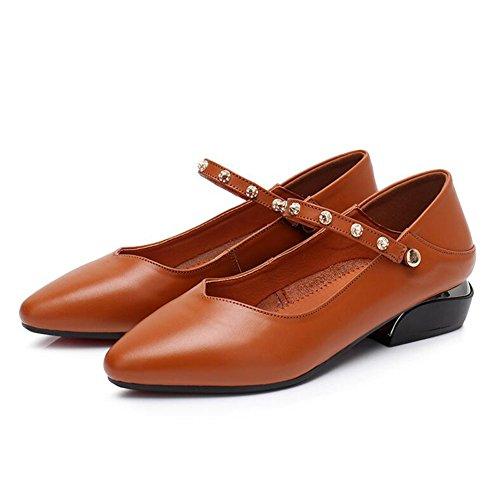 QIDI-sandalen QIDI Freizeitschuhe Frau Atmungsaktiv Flacher Boden Modisch Reine Farbe Einzelne Schuhe (Farbe : T-1, Größe : EU39/UK6)
