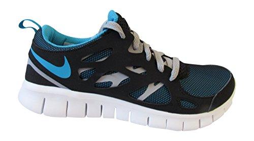 Nike - Sneaker Nike Free Run 2 GS, Unisex - bambino nero blu laguna grigio lupo 040