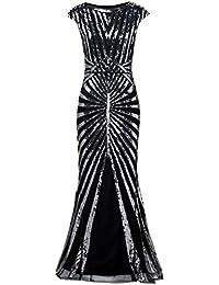 7d1b1cb07055c5 ArtiDeco 1920s Kleid Damen Maxi Lang Vintage Abendkleid Gatsby Motto Party  20er Jahre Flapper Kleid Damen Kostüm…