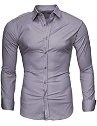 14251eac856e Kayhan Homme Chemise Slim Fit Repassage Facile