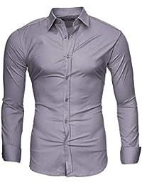 45e4749ac Kayhan Hombre Camisa Manga Larga Slim Fit S-6XL - Uni