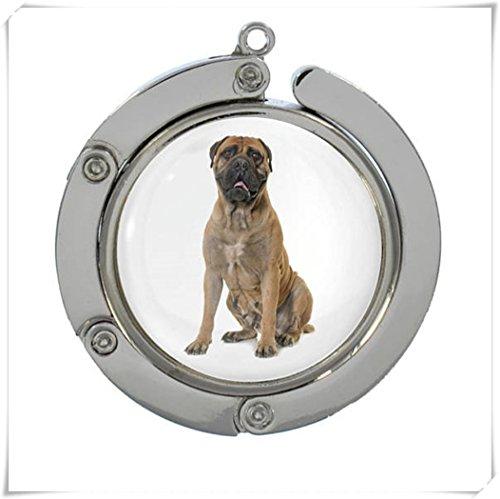 JUN Bull Mastiff Handtasche Aufhänger Haken , Dome Glas Schmuck, Pure Handarbeit (Mastiff Kette)