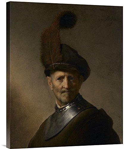 Galerie Kostüm - Global Galerie Budget gcs-454991-5.659,1-360,7cm Rembrandt Harmensz von einem alten Mann in Military Kostüm Galerie Wrap Wandbild Giclée auf Leinwand Kunstdruck