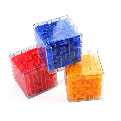 (3D Stereo Magic Cube Puzzle Maze Geschwindigkeit Balance Frühe Pädagogische Intelligenz Spielzeug 3D Dreidimensionale Walking Rolling Beads Labyrinth Ball Spiel Zappeln Sensorisch für Kinder Jungen Kinder Geschenk)