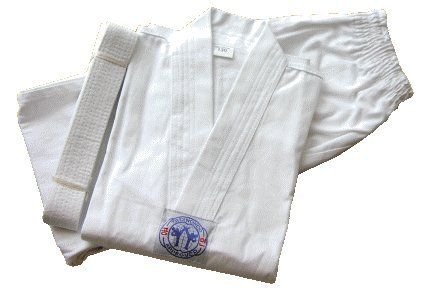 S.B.J - Sportland Taekwondo Anzug/Dobok Kampfsportanzug Basic ohne Rückenaufdruck 160 cm