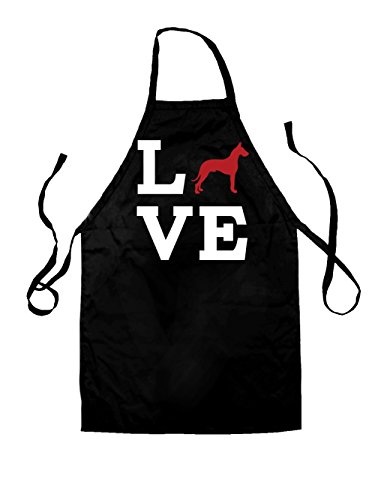 Love Great Dane Dog Silhouette - Unisex Adult Fit Apron - 8 Colours