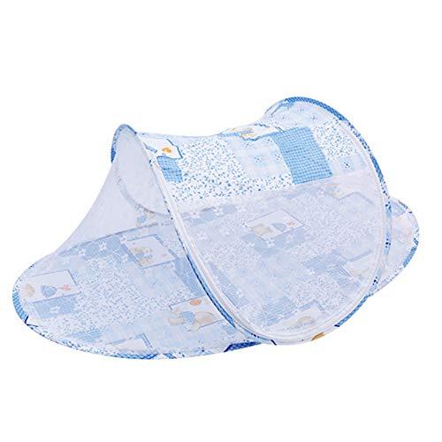 1 Set Ultra Thin Summer Children Mosquito Net Portable Folding Baby Travel Bed Crib Baby Cots Newborn Foldable Crib Mosquito Net Blue