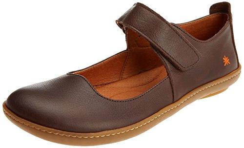 Leder Mary Jane Schuhe Anziehen (Art Damen 1293 Memphis Brown/Kio Mary Jane Halbschuhe, Braun, 40 EU)