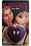 Smiffys Scarecrow Love Bite Fangs in Love Heart Display Box