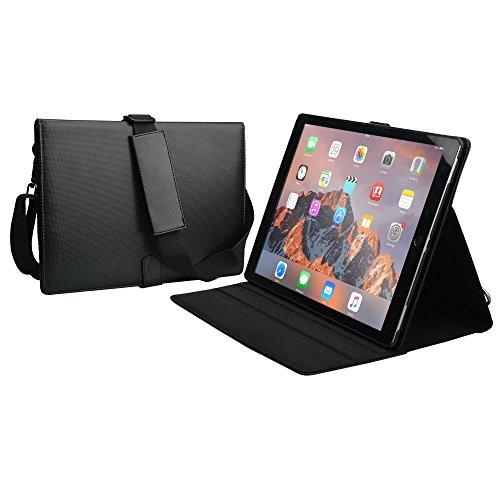 iPad Pro 12.9 étui, Cooper Magic Carry II Pro Coque de Transport de Voyage Protecteur Portefeuille pour Tablette avec poignée, bandoulière et Support intégré pour iPad Pro 12.9 (Noir)