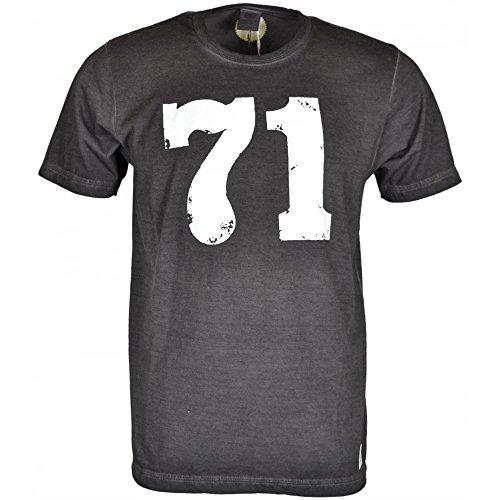 Franklin-Marshall-MF228-Worn-Out-Vintage-Black-T-Shirt