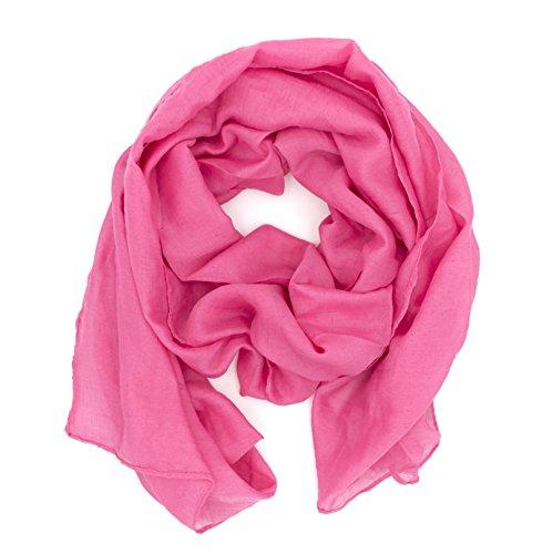WILD-CAT-Damen-Schal-Halstuch-Tuch-aus-Chiffon-fr-Frhling-Sommer-Ganzjhrig-Pink