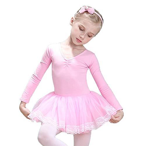 ffa55ee49 Vestido para el niño Niñas Moderno Baile Contemporáneo Leotardos de ballet  Manga larga Bowkont Ajuste de