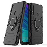 CompuMisr Iron Man Cover Case For Huawei Y9 Prime 2019 With Metal Ring kickstand - Black