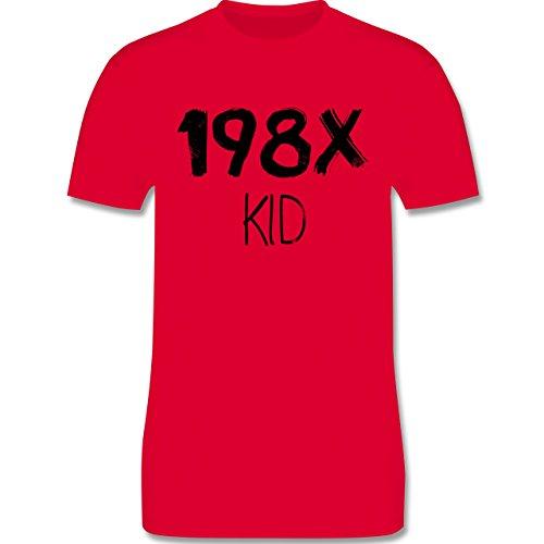 Shirtracer Geburtstag - 198X Kid Vintage - Herren T-Shirt Rundhals Rot