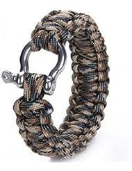 Pakhuis Bracelet de survie Weave Manille Boucle d'urgence Quick Release - Camo