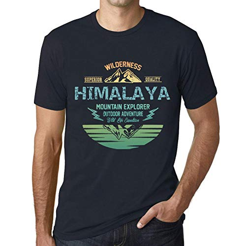 931d1d048 One in the City Hombre Camiseta Vintage T-Shirt Gráfico Himalaya Mountain  Explorer Marine