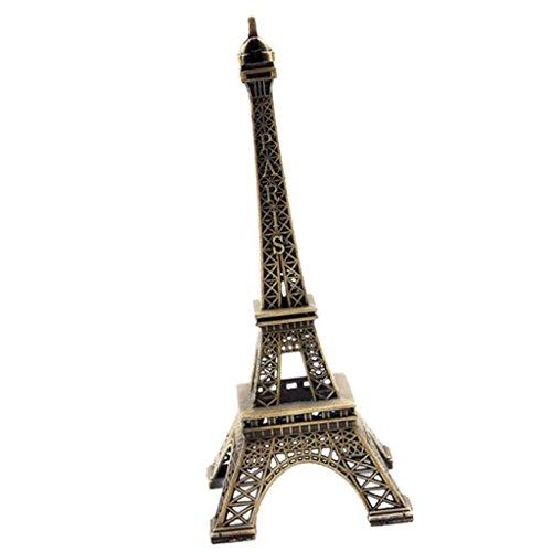PETSOLA Retro Vintage Bronze Paris Eiffelturm Figur Statue Home Decor Bronze Finish, L