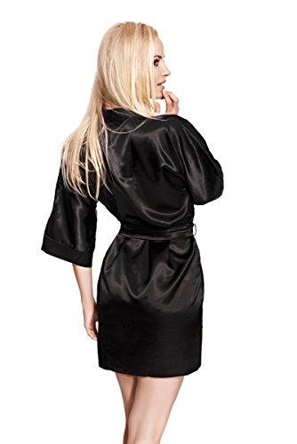 CAMILLE – Sexy Robe de Chambre - Kimono - à partir de la collection de Sophie Bernard. Sentir à l'aise! Rouge