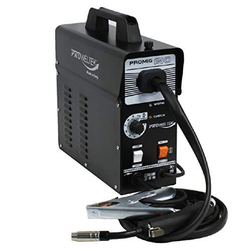 Poste à souder MIG NO GAS PROMIG130 Torche + masque + bobine de fil pré montée Accessoires PROWELTEK Garanti 3 ans