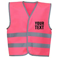 swagwear Your Text Personalised Kids Hi Vis Vest 4 Colours