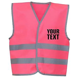 swagwear Your Text Personalised Kids Hi Vis Vest 4 Colours