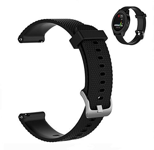 WEINISITE Per Garmin Vivoactive 3 Cinturino,Sostituzione Regolabile braccialetto Per Garmin Vivoactive 3 (#1, L)