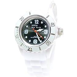 Nerd® NEW YORK Uhr in Weiß/Grau BU283