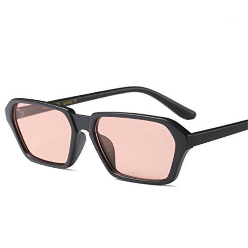 KLXEB Gafas De Sol Cuadrado Rectángulo De Bastidor Pequeño De Mujeres Gafas De Sol 90S Retro Gafas Exclusivas Uv400,Rosa