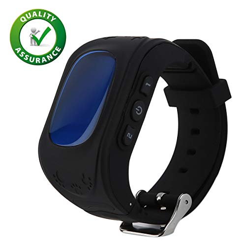ARY TECH Q50 Kids Smart Watch with Anti Lost GPS Tracker | Baby Watch | Kids SOS Calling Smart Watch Compatible with All Android/iOS mobiles and Smartphones (Black)