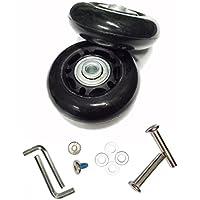 Glory100 Roulettes de rechange pour valise et patins à roues alignées - À roulements Noir