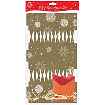 Make your own gold christmas crackers pack of 6 amazon make your own gold christmas crackers pack of 6 solutioingenieria Choice Image