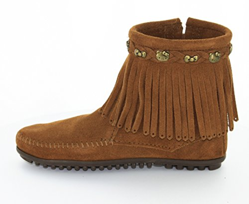 Minnetonka For Hello Kitty Fringe, Stivali Mocassini Donna Marrone (Dusty BrownDusty Brown)