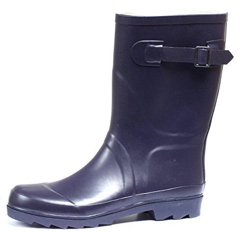 Regenstiefel Gummistiefel Gr. 37-40 Damen Stiefel Schlupfstiefel Regen Boots Lila