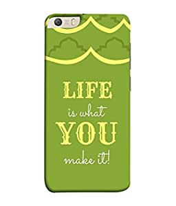 PrintVisa Designer Back Case Cover for Micromax Canvas Knight 2 E471 (Quote Retro Typo Background Poster Vintage Beautiful Type)
