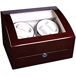 Watch winder Lindberg&Sons Brown for 4 self-winding watches and capacity for 5 additional watches UBBB9ORMb