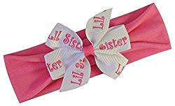 Lil Sister Headband (0-12 Months) : Funny Girl Big Sister Little Sister Hat or Headband Gifts