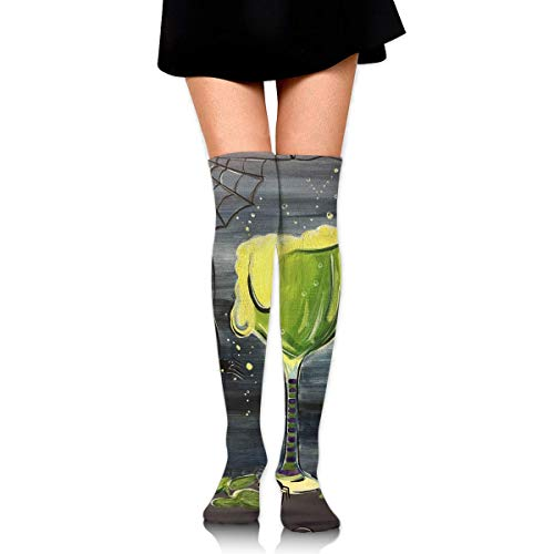 HRTSHRTE Halloween Cocktail Witches Brew Vintage Ankle Stockings Over The Knee Sexy Womens Sports Athletic Soccer Socks (Halloween Cocktails Für Kinder)