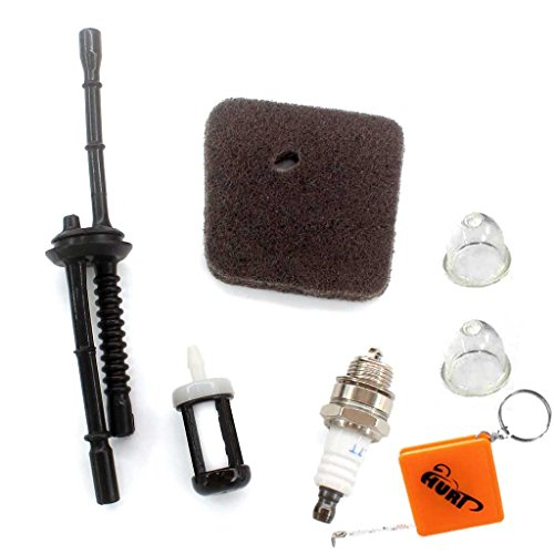HURI Zündkerze + Luftfilter + Benzinfilter + Benzinschlauch Passend für STIHL FC55 FS38 FS45 FS46 FS55 HS45 KM55 HL45 Rasentrimmer 4140 124 2800