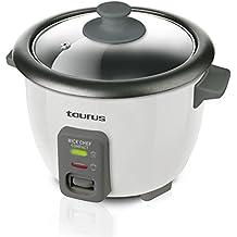 Taurus Rice Chef Compact Hervidora de Arroz, 300 W, Negro y Gris