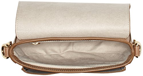 Tommy Hilfiger Th Twist Leather Medium Crossover, Sacs bandoulière Marron (Tan)