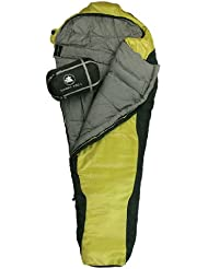 10T Outdoor Equipment 764719 - Sacco a pelo Innoko 350, 215 x 85 x 55 cm, colore: Giallo