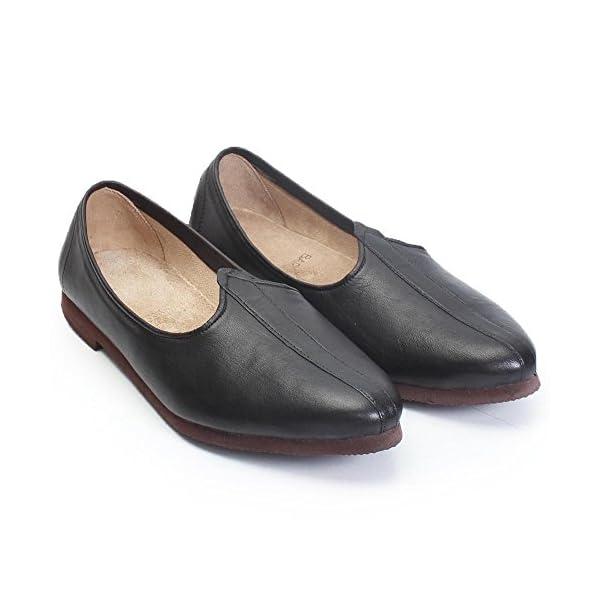 Bareskin-Black-Leather-JALSA-Slip-ON-with-Brown-Sole