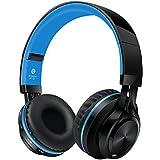 Alihen BT-06 Swift Bluetooth 4.0 Casque d'écoute stéréo et sans fil, sur les oreilles, pas de bruit Casque d'écoute, avec la micro intérieur et contrôle du volume, avec le câble audio, compatible avec la plupart des téléphones / PC / TV / iPhone / Samsung / Ordinateur portable (Bleu)