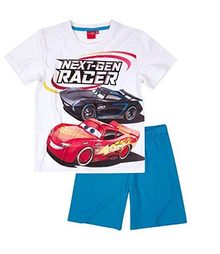 Disney Cars Chicos Pijama mangas cortas – Blanco